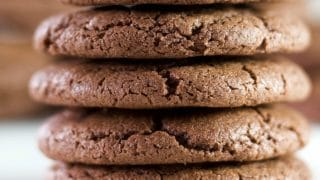 Chewy Chocolate Cookies with baking powder