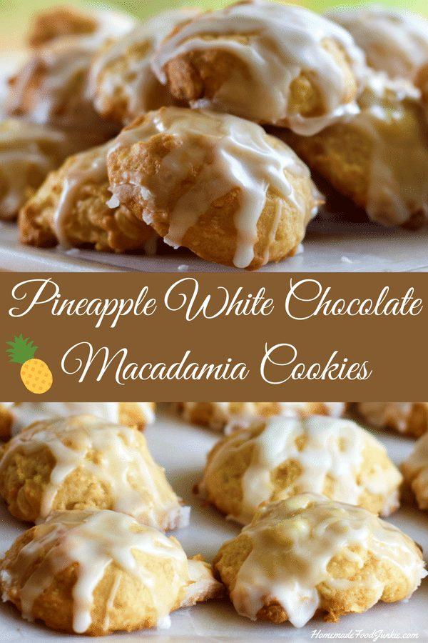 Pineapple White Chocolate Macadamia Cookies