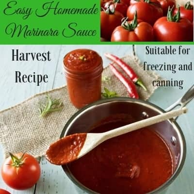 Easy Homemade Marinara Recipe for Freezing and Canning