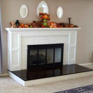 DIY Fireplace Overhaul Reveal