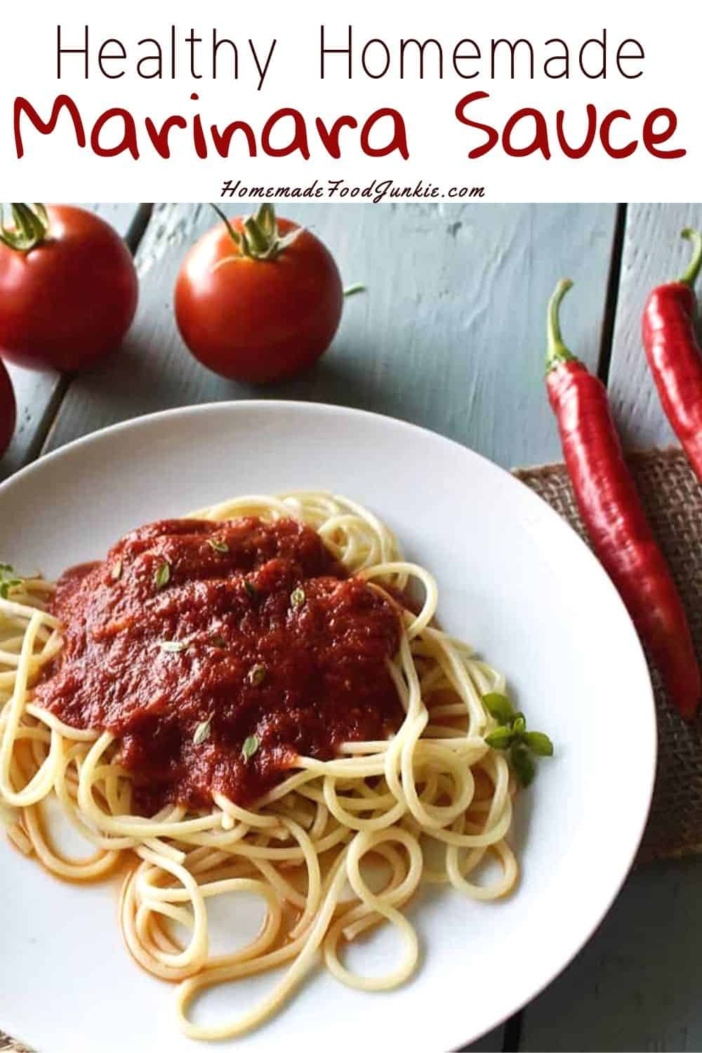 Healthy Homemade Marinara Sauce-pin image