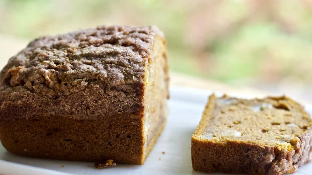 Pumpkin Apple Spice Bread Is Delicious Warmed With A Bit Of Butter.