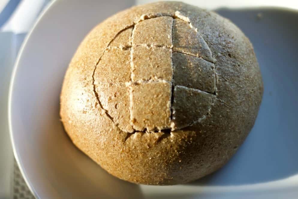 Cut Honey Oat bread bowls