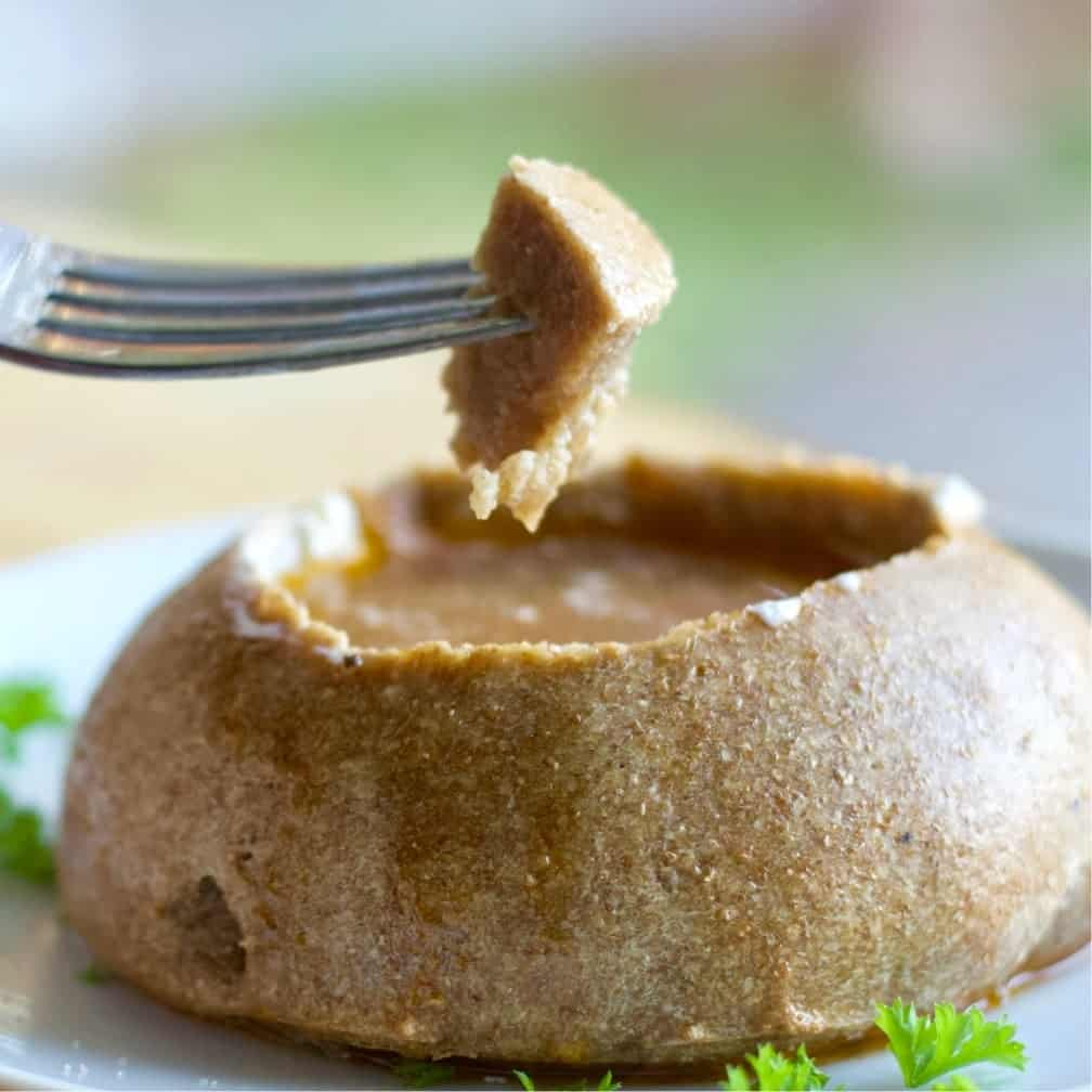 Dipping bread Bowl