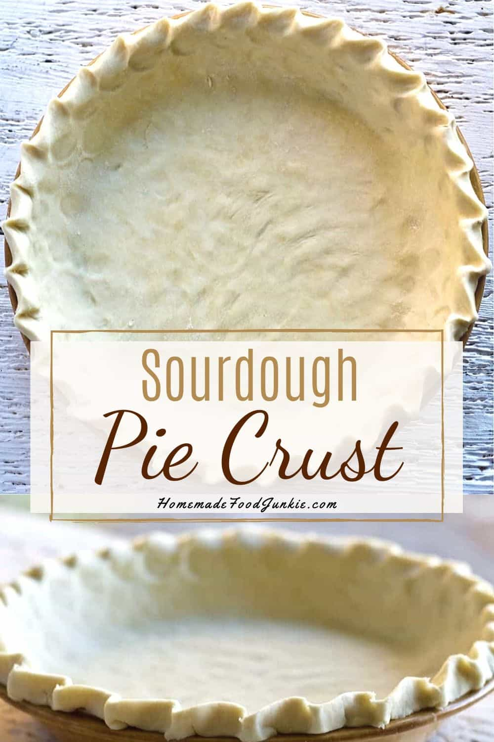 sourdough pie crust-pin image
