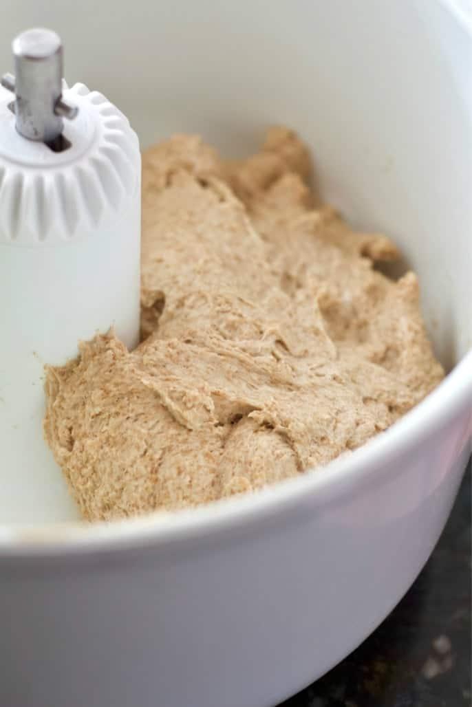 honey oat bread dough