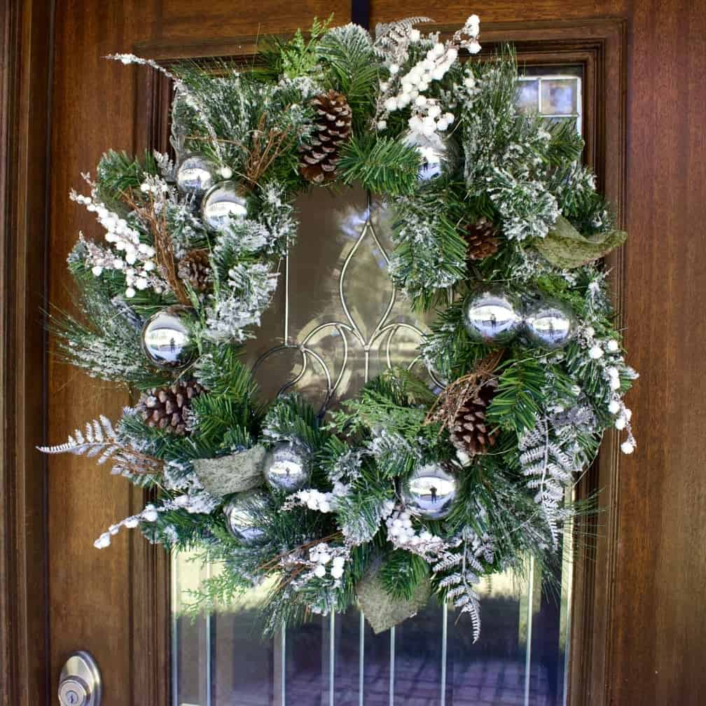 Christmas Wreath for Christmas Porch Decor