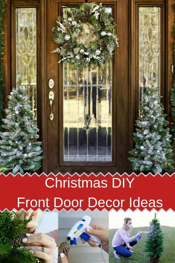 Christmas DIY Front Door Decor Ideas-pin image