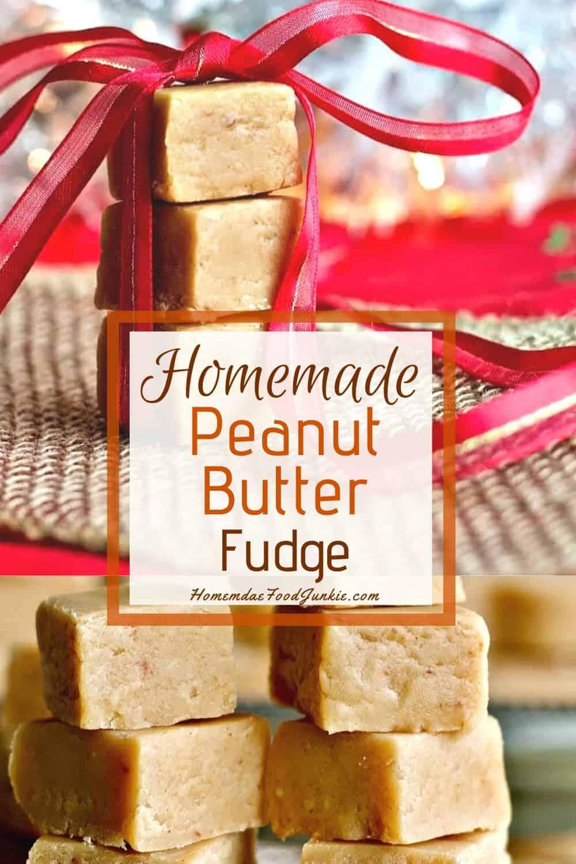 Homemade Peanut Butter Fudge-pin image