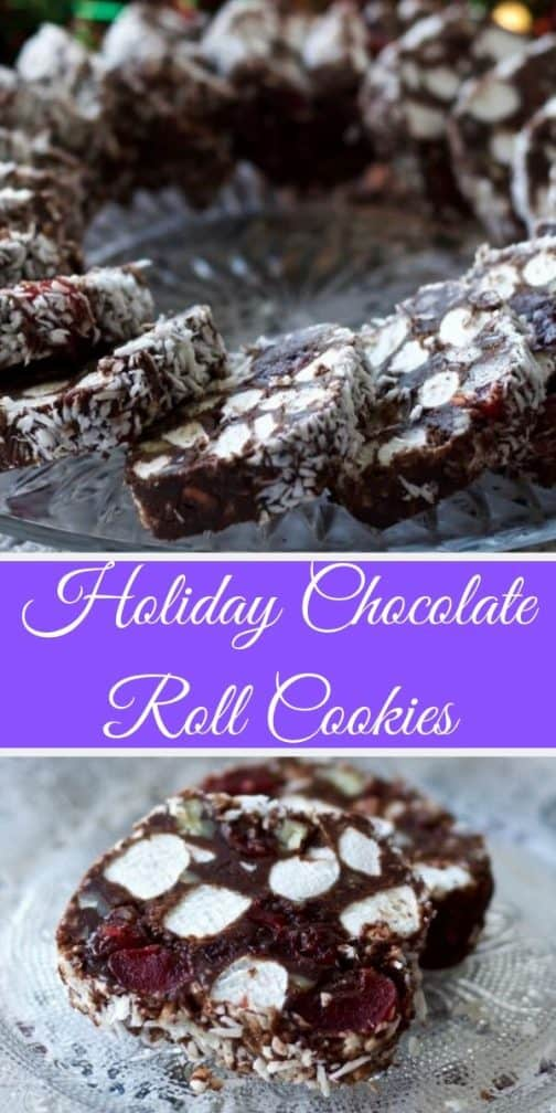 Holiday Chocolate Roll Cookies