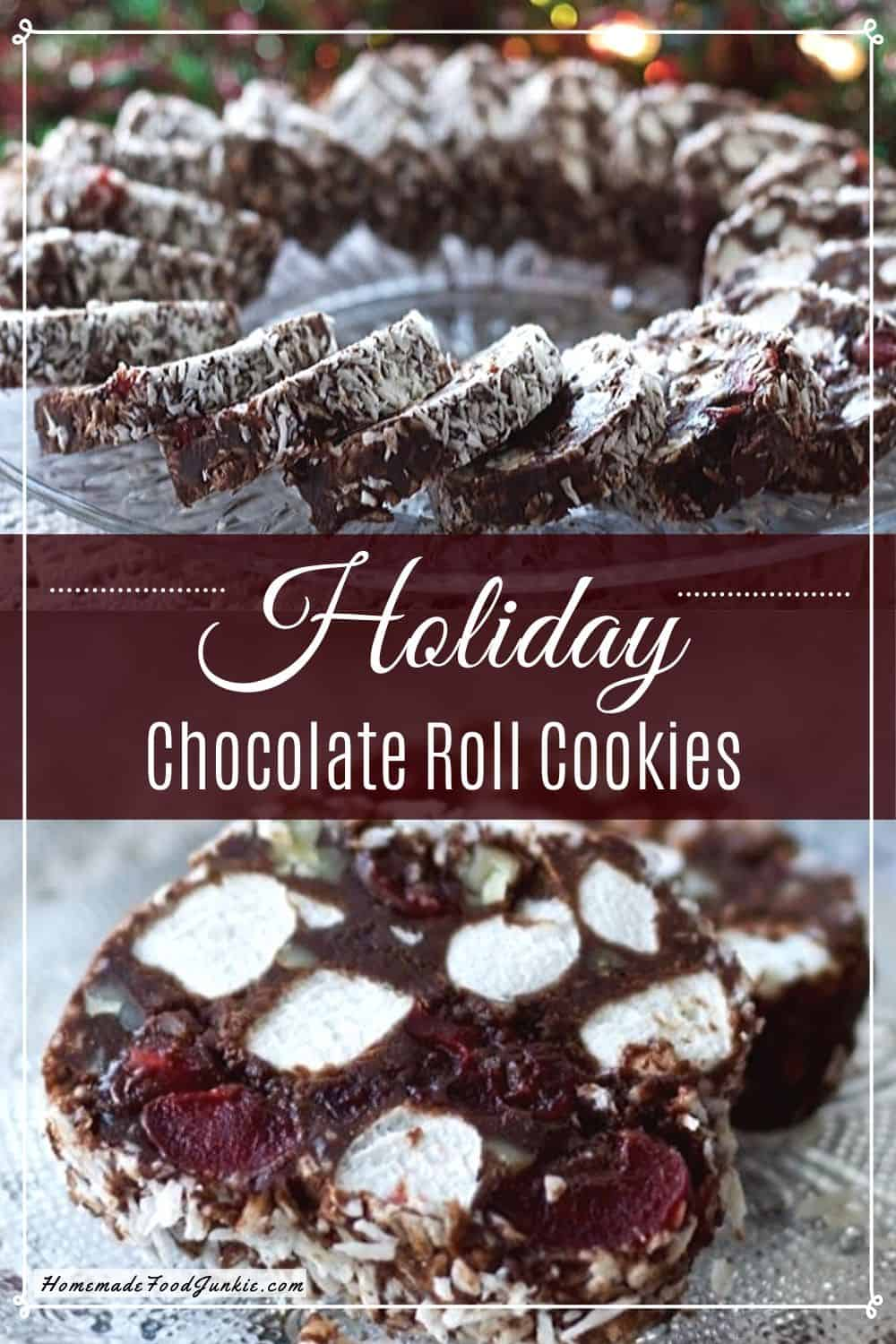 Holiday Chocolate Roll Cookies-pin image