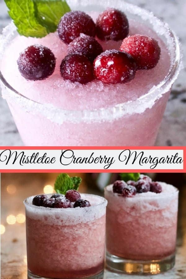 These delicious Mistletoe Cranberry Margaritas are just the thing to spice up any party or girls night! Theses mixed drinks are very easy to decorate. They are adorable and taste amazing. #cranberrylimemargaritas #cranberrymargaritas #holidaydrinks #margaritarecipe #mixeddrinkrecipe #wintercocktail #cocktail