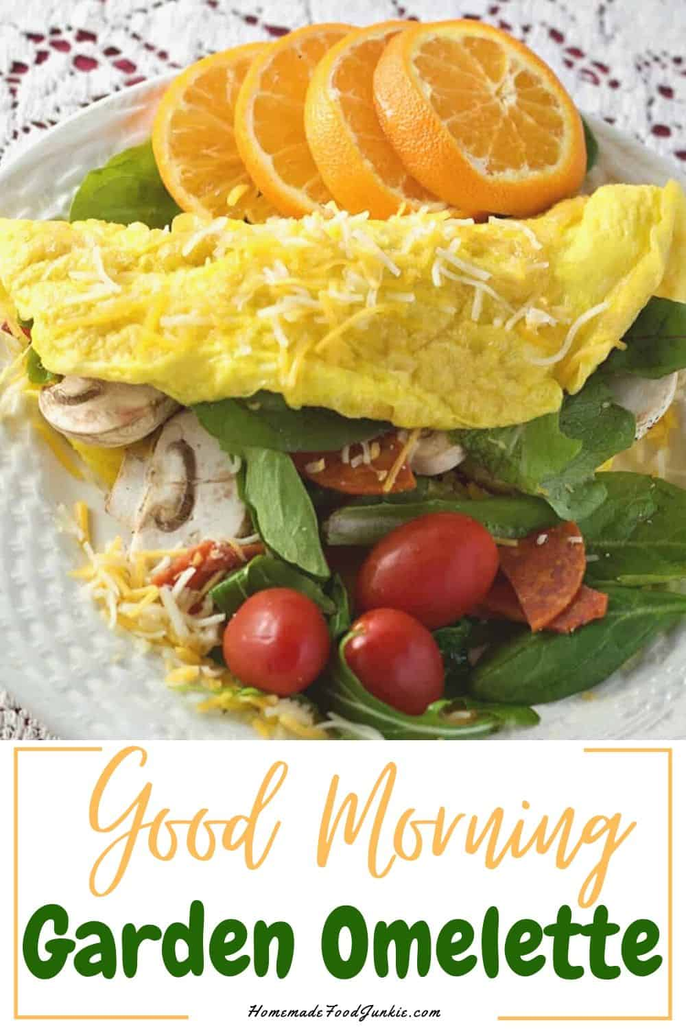 good morning garden omelette-pin image
