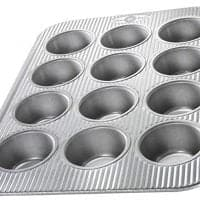 Usa Pan (1200Mf) Bakeware Cupcake And Muffin Pan, 12 Well, Nonstick &Amp; Quick Release Coating, Made In The Usa From Aluminized Steel