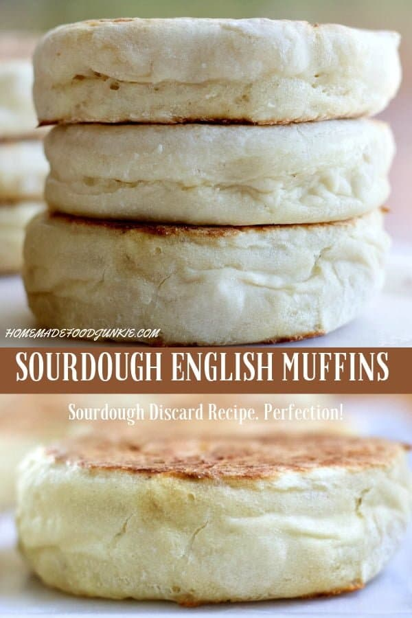 Sourdough English Muffin Recipe uses your sourdough discard starter. Your gonna love this recipe! #sourdoughdiscardrecipe #sourdoughrecipe #englishmuffins #sourdoughenglishmuffins #sourdoughstarter #muffinrecipe #breakfastrecipe #sidedish #soupside