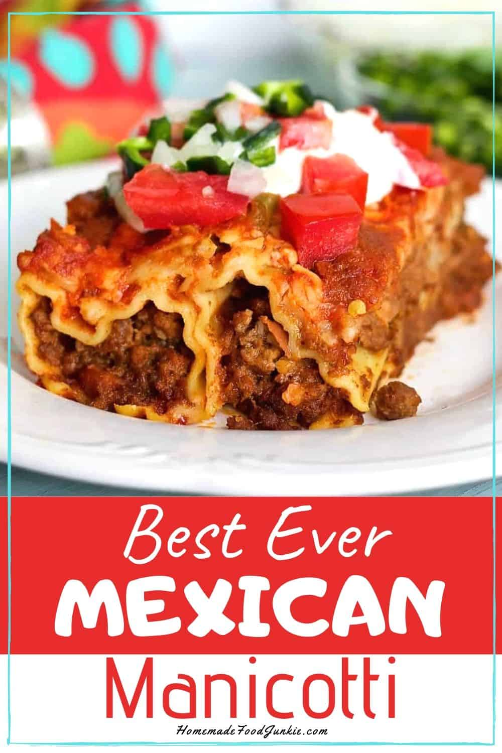 best ever mexican manicotti-pin image