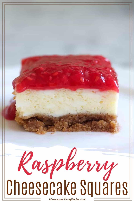 Raspberry Cheesecake Squares-pin image