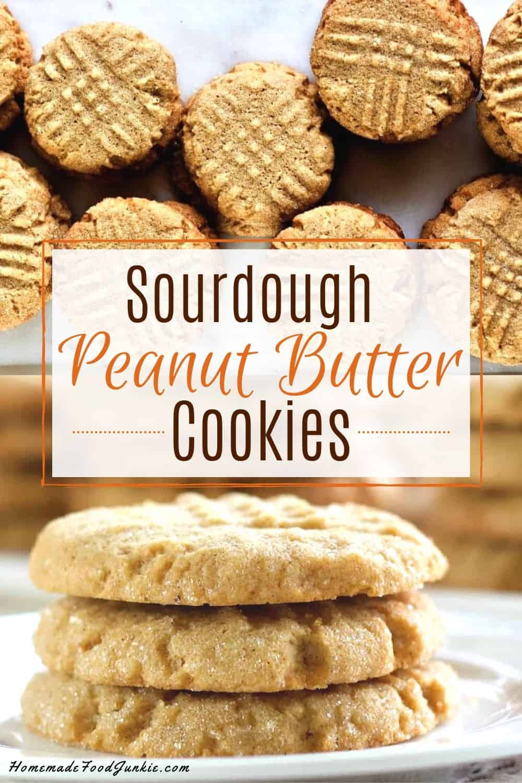 Sourdough Peanut Butter Cookies-pin image