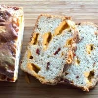 Sourdough batter bread with peppers and cheese