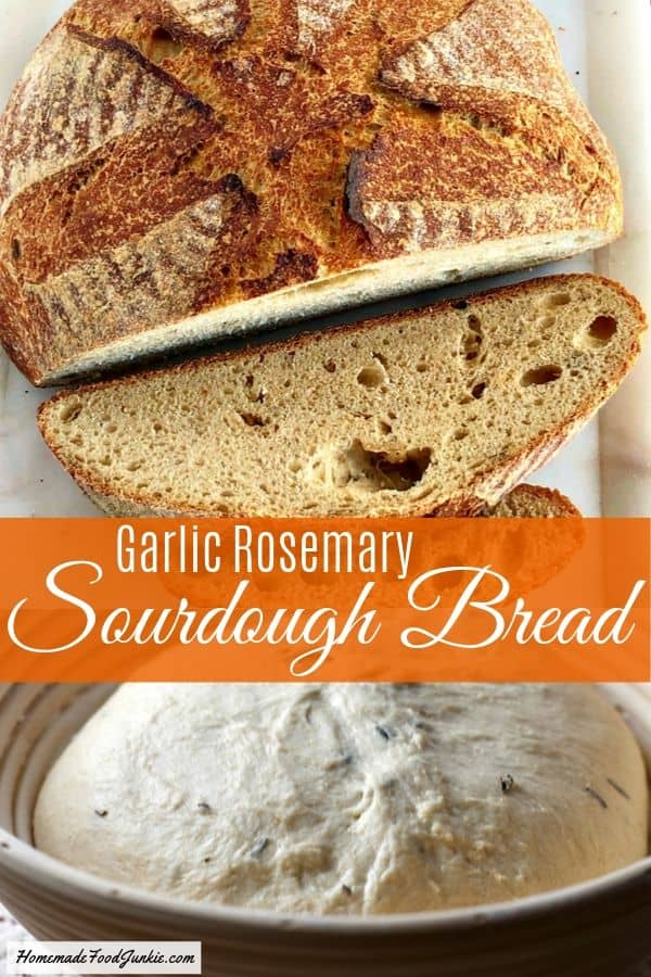 Garlic Rosemary Sourdough Bread
