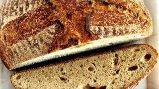 Roasted Garlic Rosemary Sourdough bread