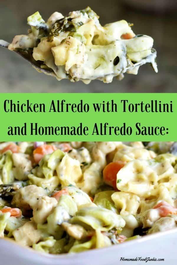 Chicken Alfredo tortellini