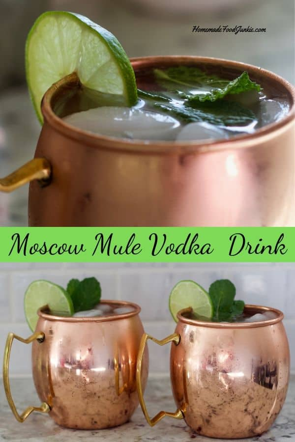 The Moscow Mule Vodka Drink is a refreshing cocktail with vodka and lime juice  and ginger beer.