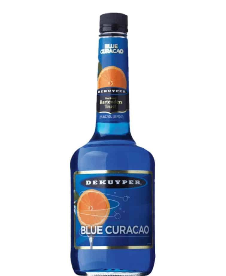 Dekuyper Blue Curacao bottle