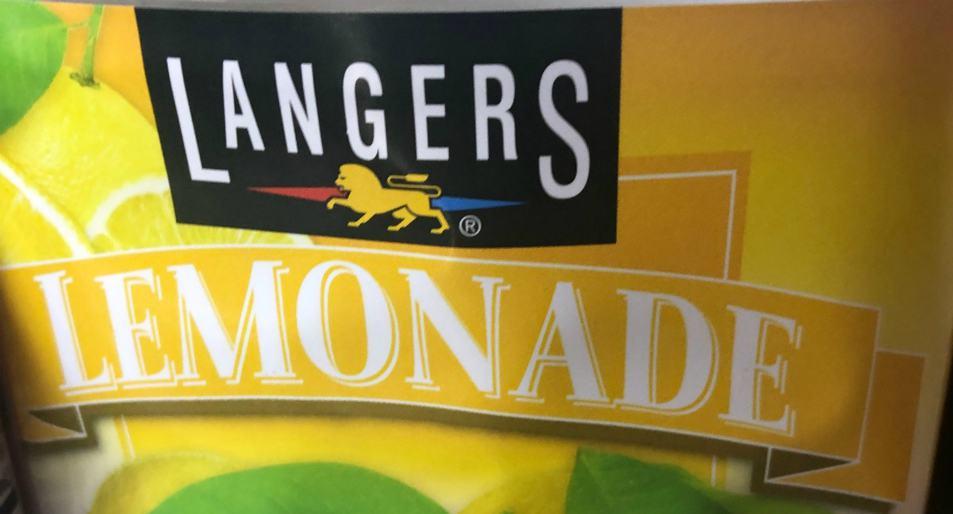 langers lemonade label