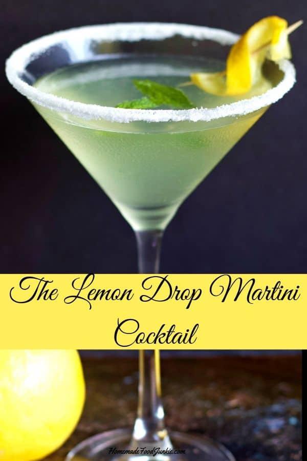 Lemon Drop martini-Pin