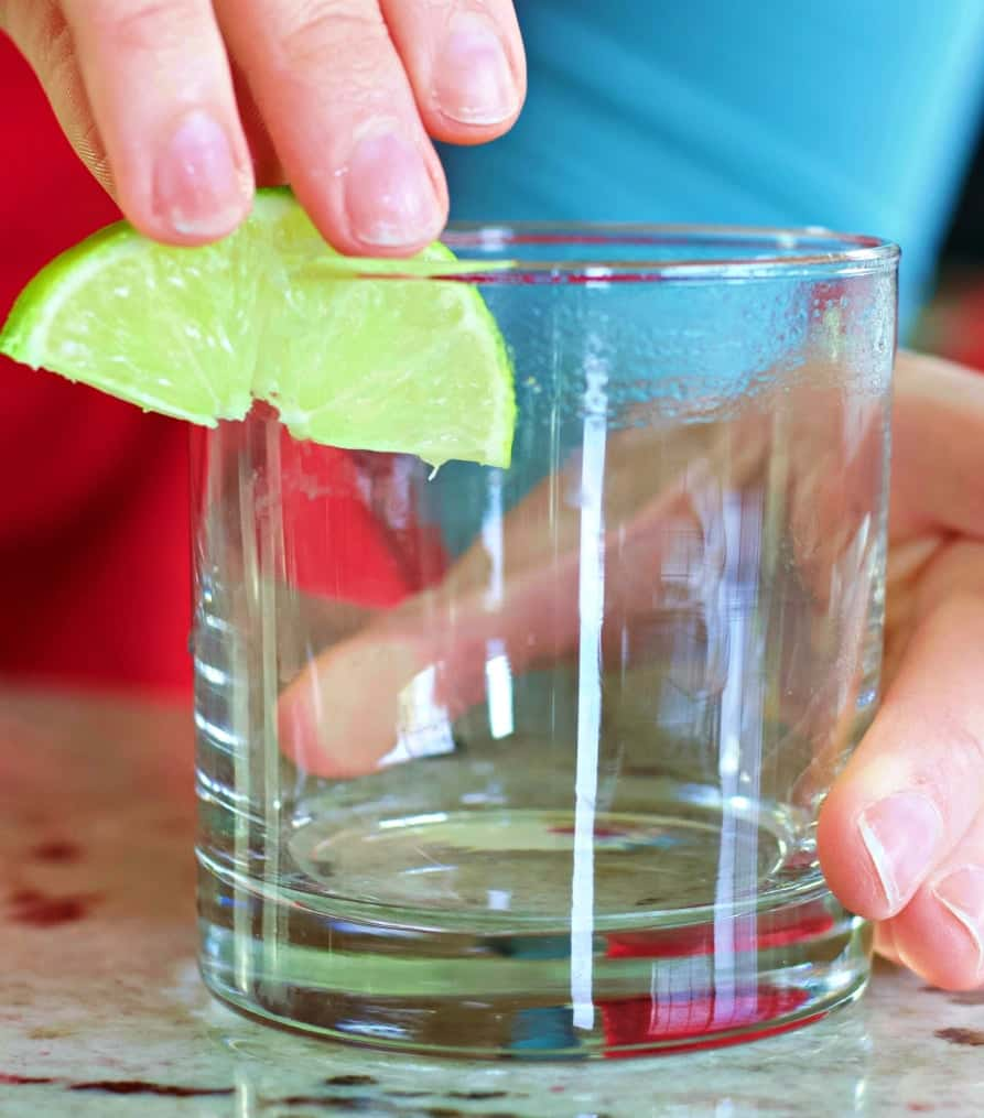 Liming The Rim Of A Glass