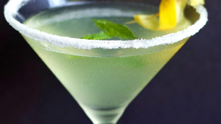 Lemon Drop Martini Vodka Cocktail