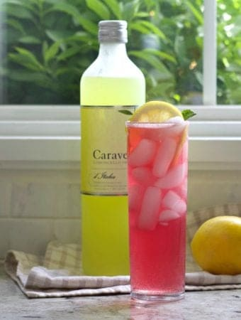 Pink Lemonade vodka cocktail with limoncello