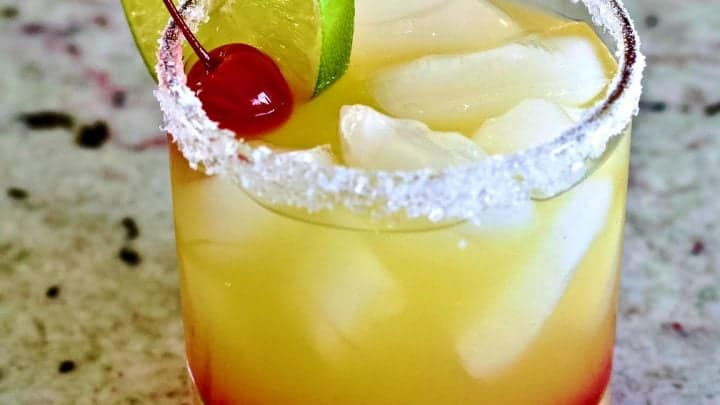 Tequila Sunrise mixed drinks