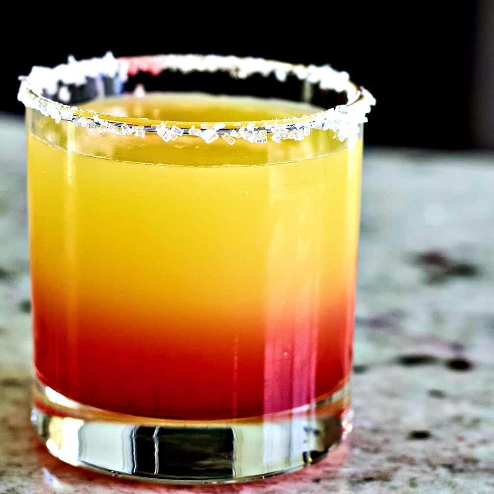 Tequila Sunrise Margarita no ice