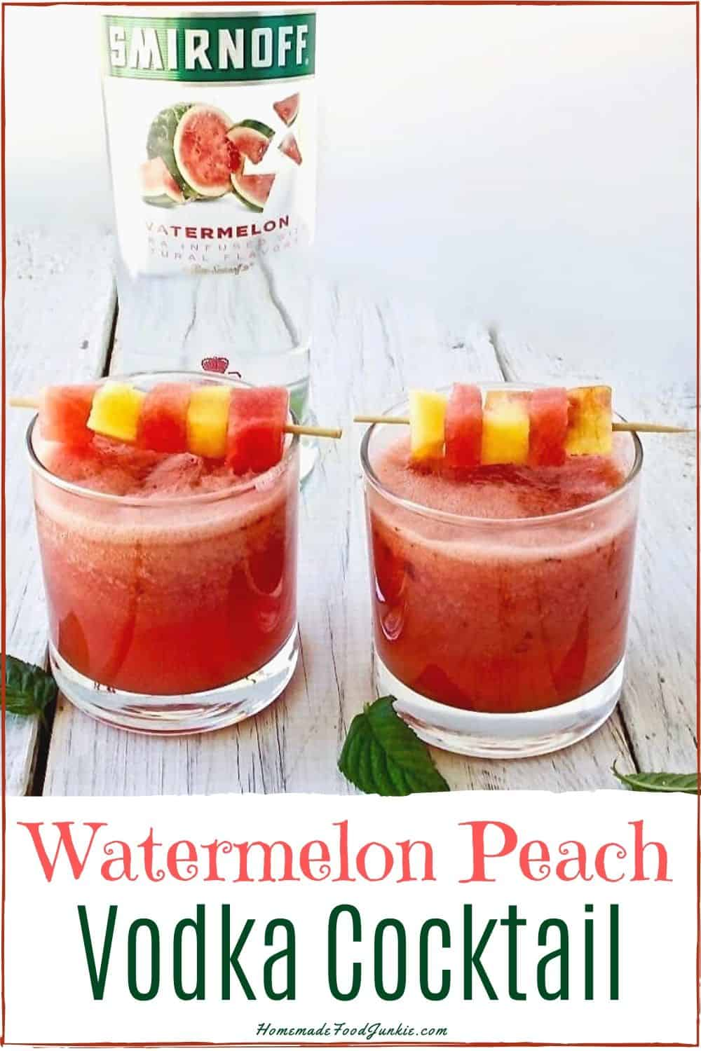 Watermelon Peach Vodka Cocktail-pin image