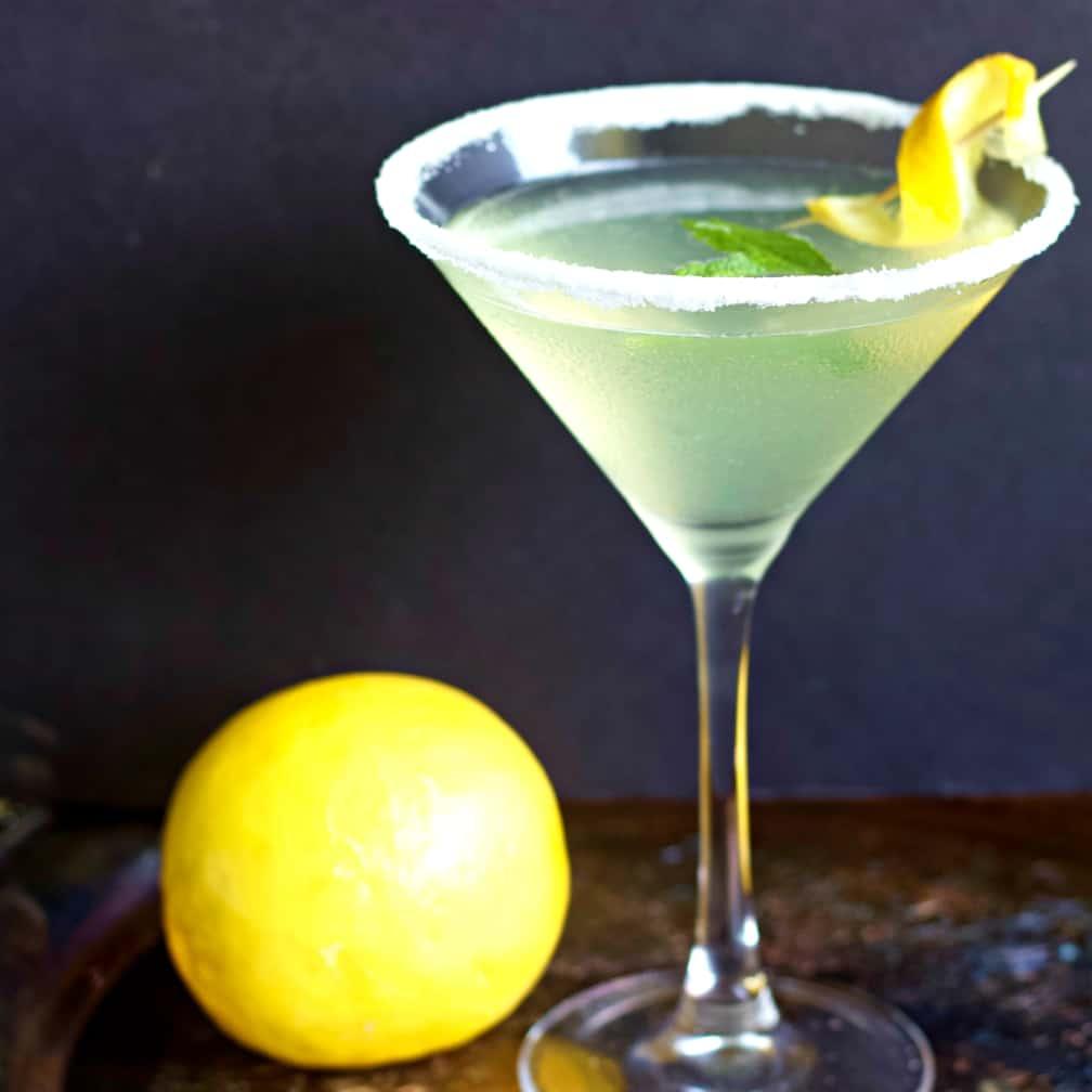 Lemon Drop Martini With Fresh Lemon