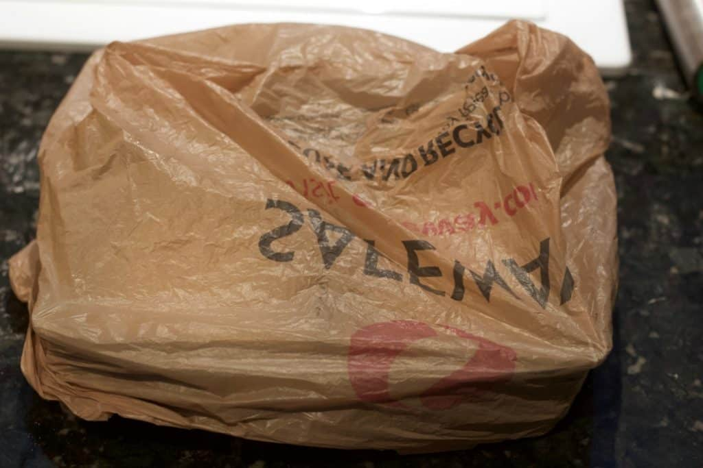 final rise in plastic bags-sandwich bread