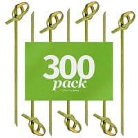 "Bamboo Knot Picks by Aevia - Disposable Eco-Friendly Cocktail Skewers - Biodegradable and compostable - Great for Appetizers and Hors' D'oeuvre (4"", 300 pack)"