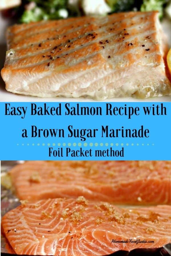 Easy Baked Salmon Recipe Pin Image