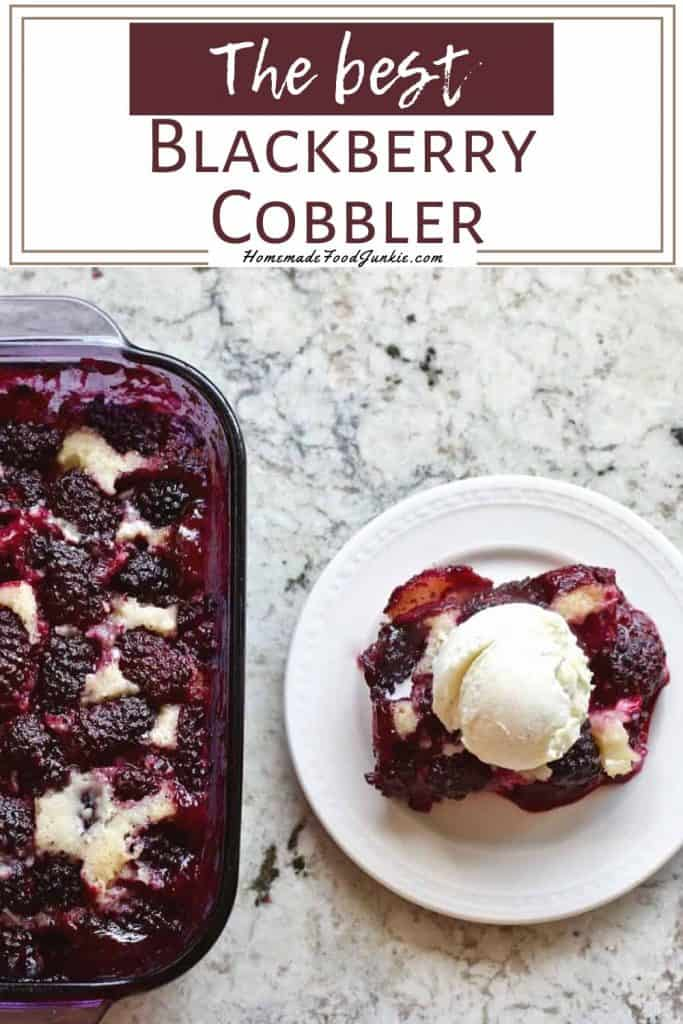 the best blackberry cobbler-pin image