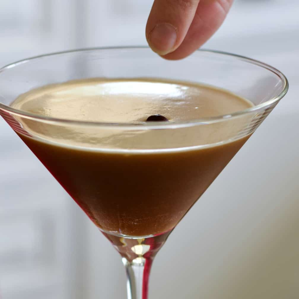 garnish your espresso martini with coffee beans