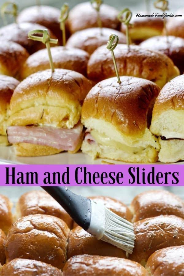 Ham and Cheese Sliders Pin Image