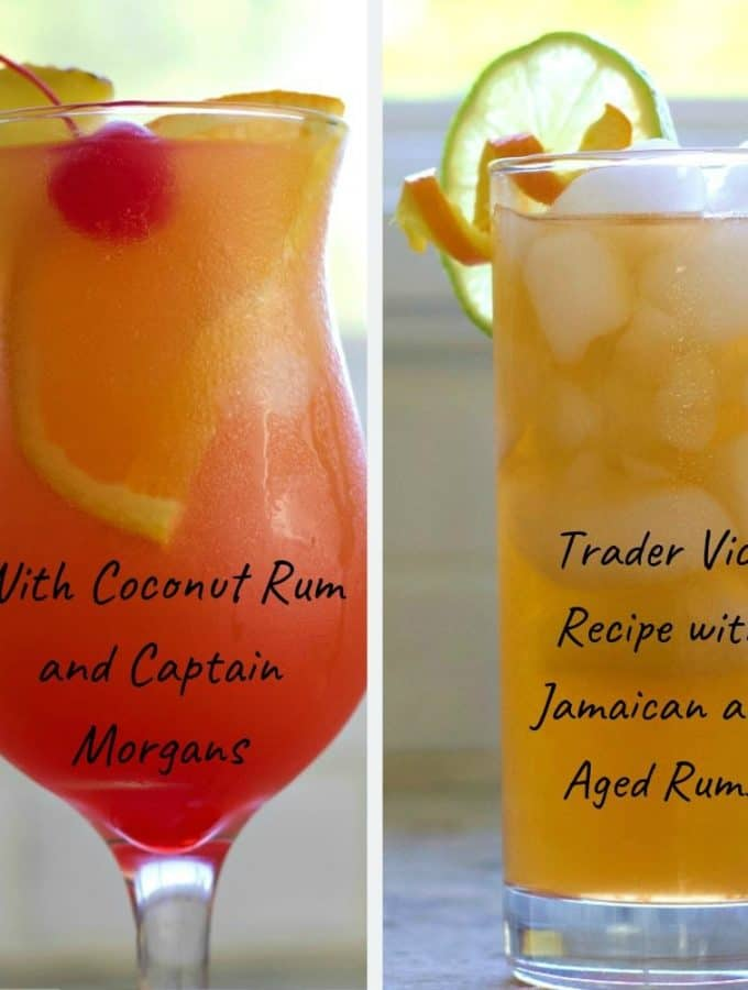 Mai Tai Cocktail two ways. Classic Trader Joe or The Sweeter island version. Both are excellent recipes for this popular tiki drink.