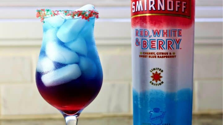 Red White and Berry Smirnoff Firecracker Cocktail