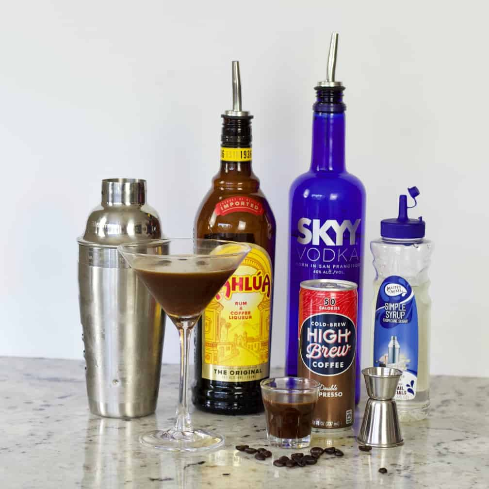 Ingredients for Espresso Martini