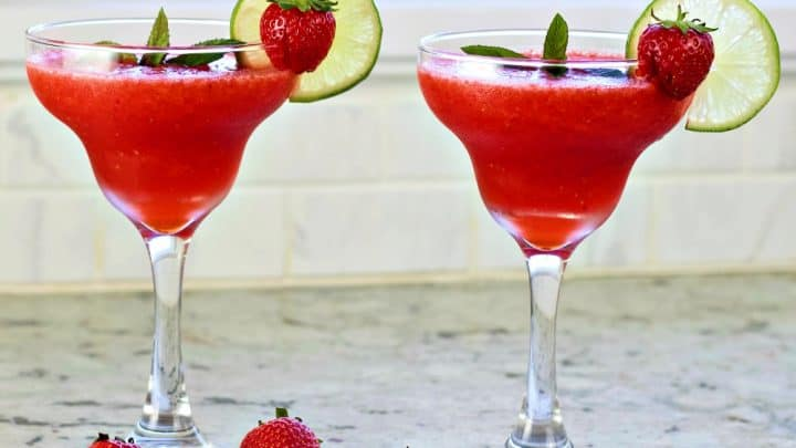 Strawberry Daiquiri Recipe With Malibu Coconut Rum Homemade Food Junkie