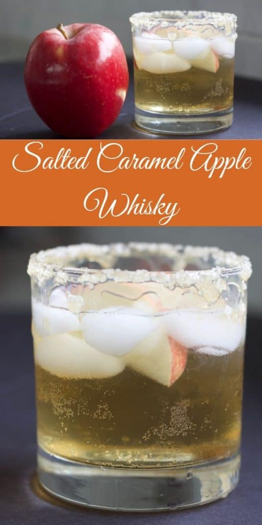 Crown Royal Apple Caramel Whiskey drink. The sweet taste of apple cider and cozy cold weather drinks resonate strongly with this whiskey mixed drink.