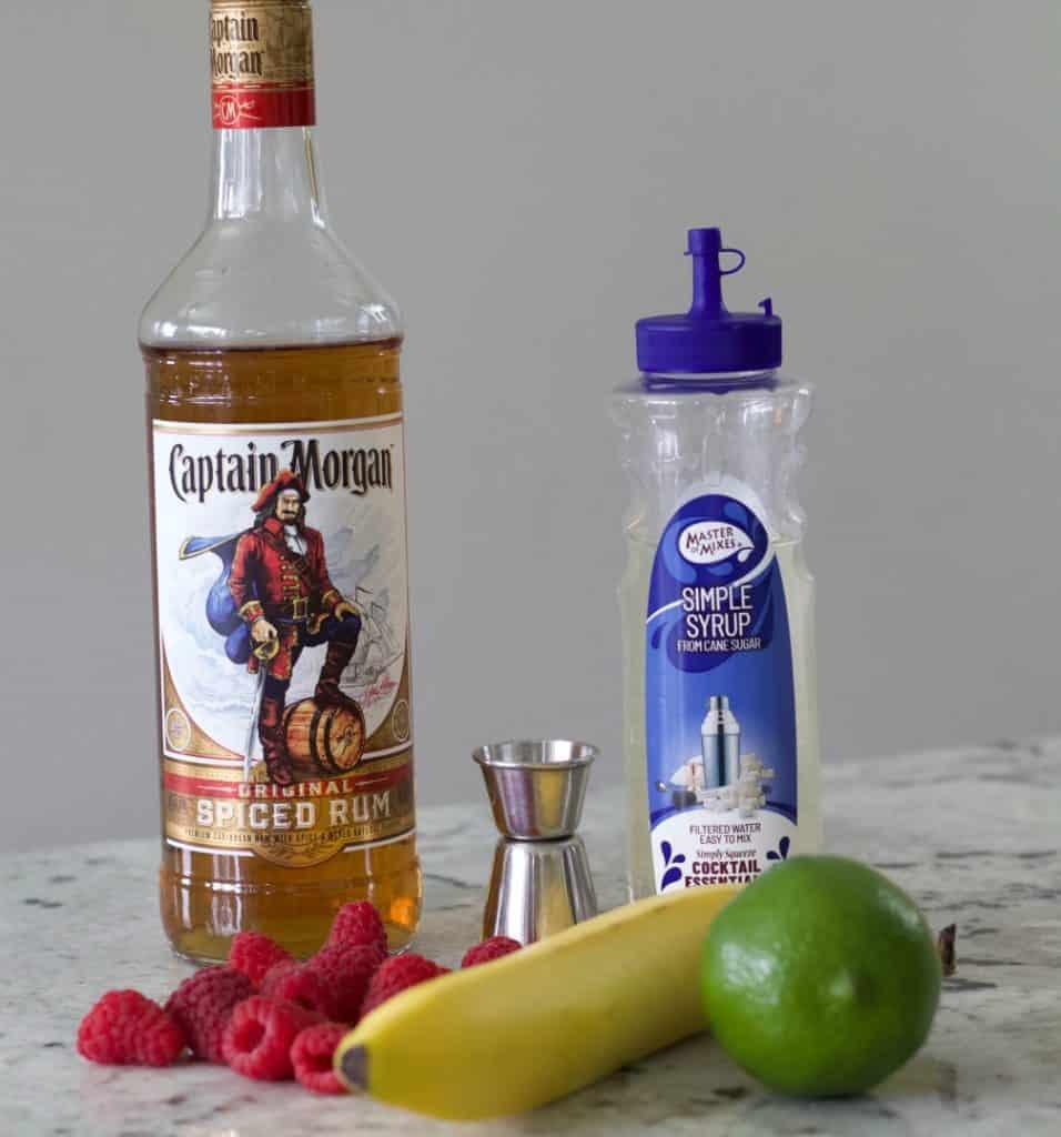 ingredients for the CopaBanana Daiquiri