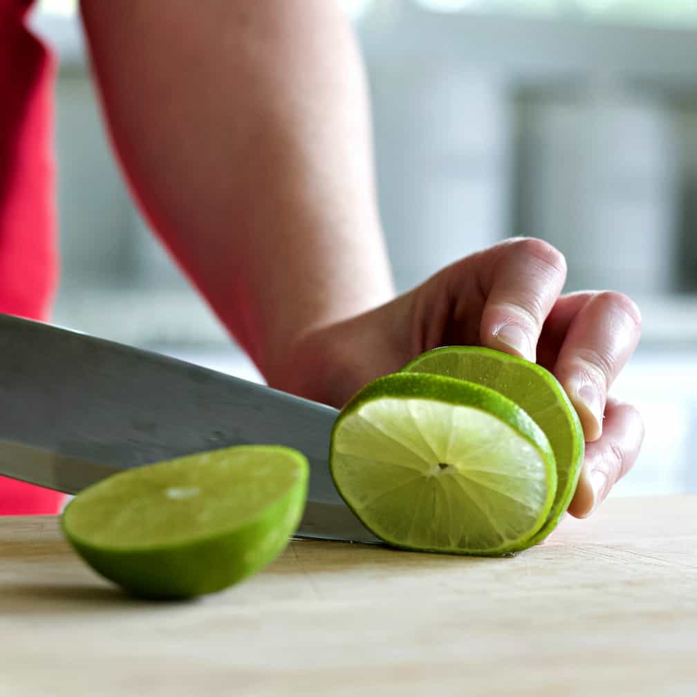 Slicing A Lime